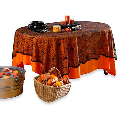 Spider Lace 60-Inch x 84-Inch Tablecloth