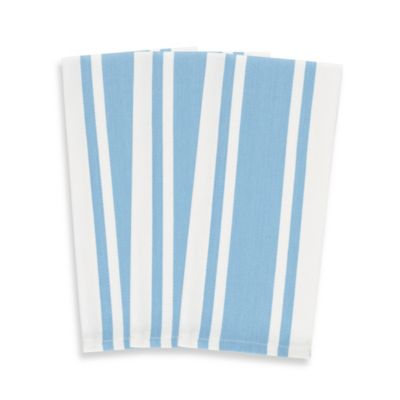 3-Pack Heavyweight Striped Kitchen Towels in Blue