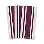 3-Pack Heavyweight Striped Kitchen Towels in Purple