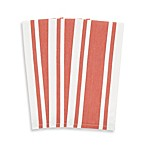 3-Pack Heavyweight Striped Kitchen Towels in Rust