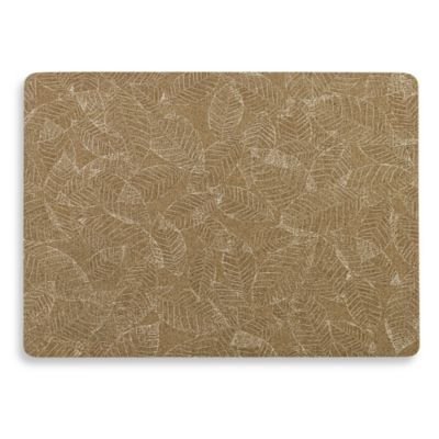 Fossil Leaf Rectangle Placemat in Taupe