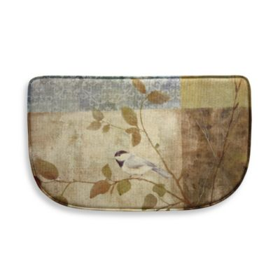 Bacova Chickadee Collage 18-Inch x 30-Inch Memory Foam Slice Rug