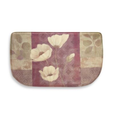 Plum Poppies 18-Inch x 30-Inch Memory Foam Slice Rug