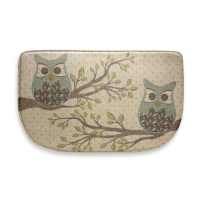 Bacova Owl Duet 18-Inch x 30-Inch Memory Foam Slice Rug