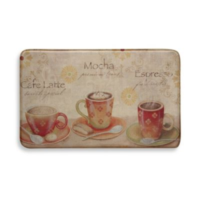 Bacova Coffee Set 20-Inch x 34-Inch Memory Foam Rug