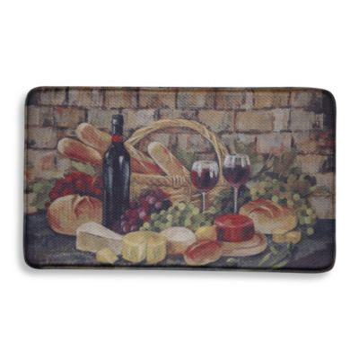 Bacova Tuscan Evening 20-Inch x 34-Inch Memory Foam Kitchen Rug