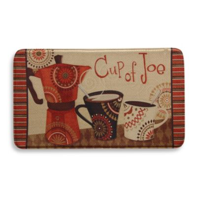 Bacova Cup of Joe 20-Inch x 34-Inch Memory Foam Floor Mat