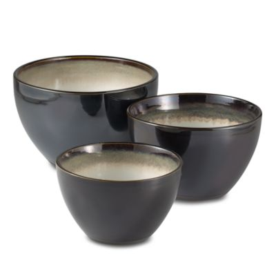 Nova Black Mixing Bowls (Set of 3)