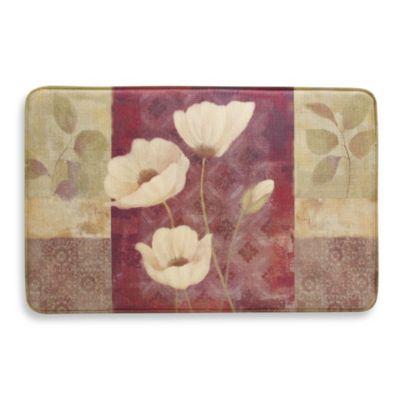 Bacova Plum Poppy 20-Inch x 34-Inch Memory Foam Slice Rug
