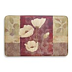 Bacova Plum Poppy Memory Foam Slice Rug