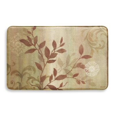 Bacova Branch Swirl 22-Inch x 35-Inch Memory Foam Rectangle Rug