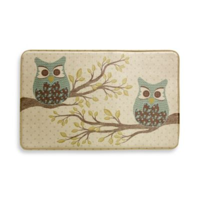 Bacova Owl Duet 22-Inch x 35-Inch Memory Foam Rectangle Rug