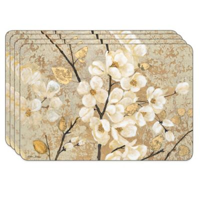 Blossoming Branches Cork-Backed Placemats (Set of 4)