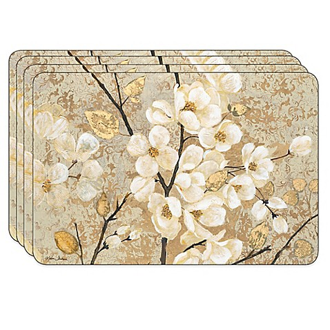 Jason Blossoming Branches Hardboard Cork Backed Placemats