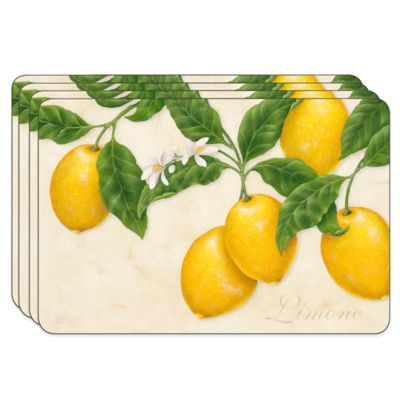 Limone Cork-Backed Placemats (Set of 4)