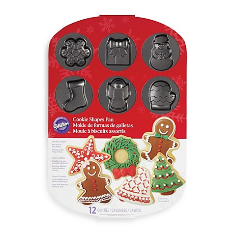 Wilton 174 12 Cavity Holiday Cookie Shapes Pan Bed Bath