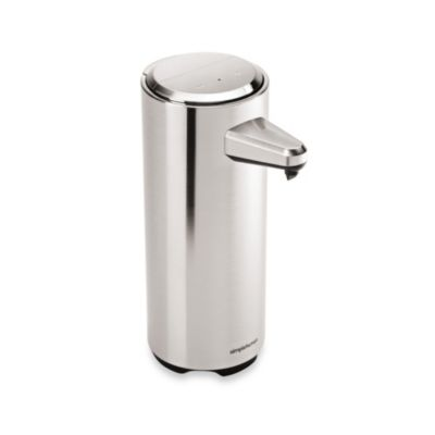 simplehuman® Rechargeable Sensor Soap Dispenser in Brushed Nickel
