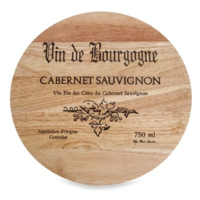 Thirstystone® Rubberwood Wine Cask Cheese Board