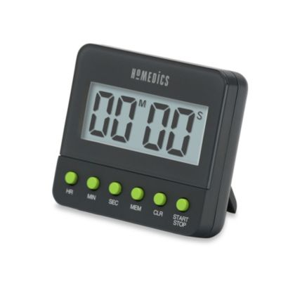 HoMedics Digital Kitchen Timer with Large Readout