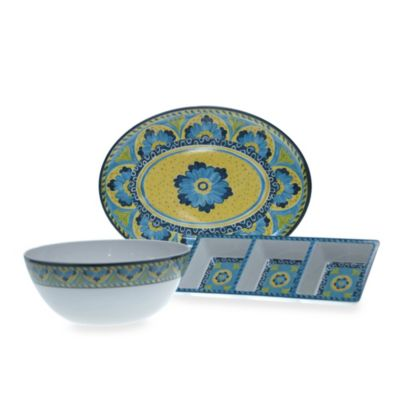 Certified International Melamine 3-Piece Serving Set
