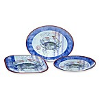 Certified International Crab 3-Piece Platter Set