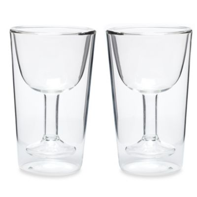 Oenophilia Double Wall Wine Glass Set (Set of 4)