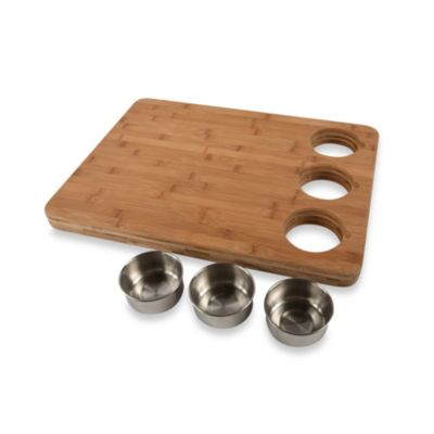 Core Bamboo™ Pro Chef Butchers Block with Prep Bowls