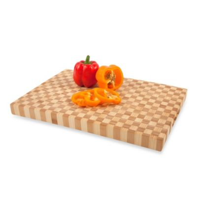 Core Bamboo™ Pro Chef Rectangle Checker Chop Block