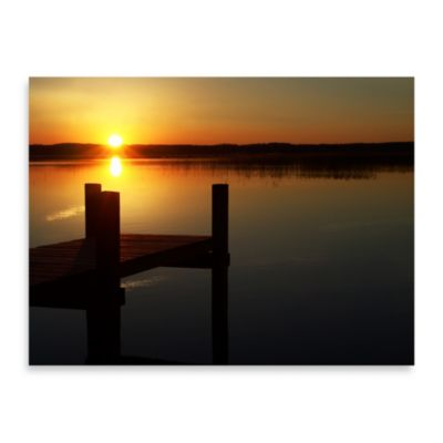 "Ilona Wellman ""Sunset Pier"" Canvas Print"