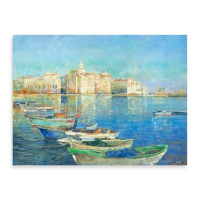 "Michael Longo ""Dockside"" Canvas Wall Art"