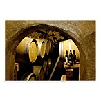 PrintCopia Collection 1-Foot x 1-Foot 6-Inch View at Wine Barrels and Bottles at a Wine Cellar