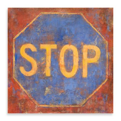 "Michael Longo ""Stop"" Canvas Art"