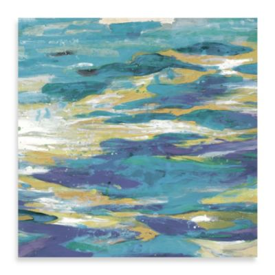 """Rhythmic Nature Ocean Blues 1"" Canvas Art"