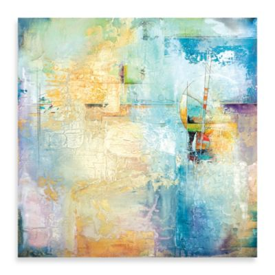 "Karen Hale ""Layered Blue I"" Canvas Art"