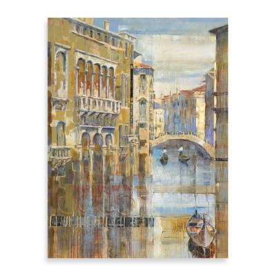 "Michael Longo ""Canal Colors"" Canvas Print"