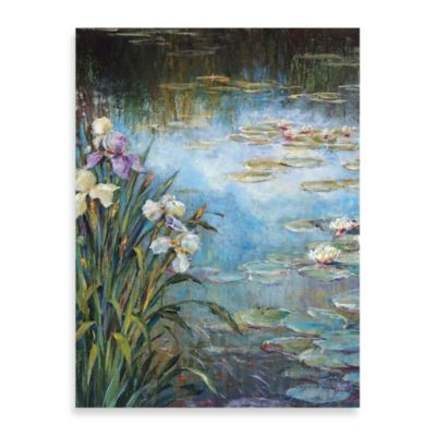 "Michael Longo ""Iris and Lily Pads"" Canvas Print"