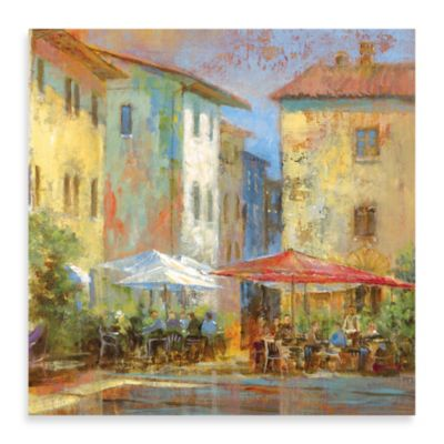 "Michael Longo, ""Courtyard Café"" Canvas Print"