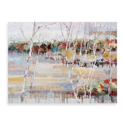 """""""Snowy Birches"""" Canvas Art"""