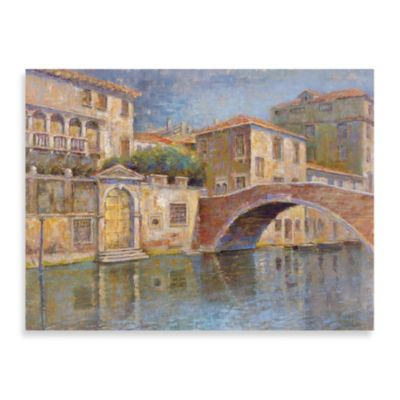 "Michael Longo ""Canal View"" Canvas Print"