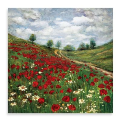 """Red Poppy Vista"" Canvas Art"