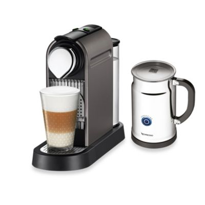 Nespresso Coffee Maker Bed Bath And Beyond : Buy Nespresso Citiz & Milk Espresso Maker and Aeroccino Plus Bundle in Black from Bed Bath & Beyond