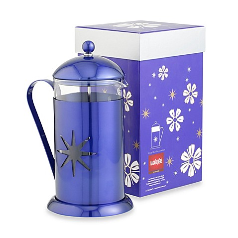 buy la cafetiere midnight blue star 8 cup french press from bed bath beyond. Black Bedroom Furniture Sets. Home Design Ideas