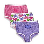 Gerber® Jockey Toddler Cotton Panties in Pink/Purple Butterfly (3-Pack)