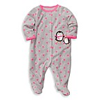 Carter's®1-Piece Footie in Grey Dot Penguin