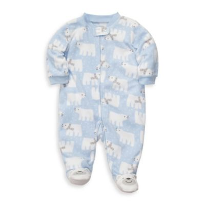 Carter's® Blue Polar Bear Microfleece 1-Piece Footie