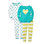 Carter's® Hearts and Stripes Print Snug Fit 4-Piece PJ Set