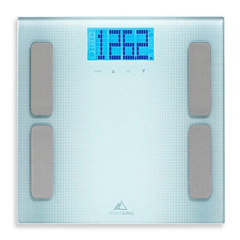 Weight gurus appsynctm body composition bathroom scale for Bathroom scales at bed bath and beyond