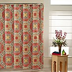 Kashmir 72-Inch x 72-Inch Shower Curtain in Ruby