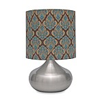 Rachel Table Lamp in Brushed Steel With CFL Bulbs
