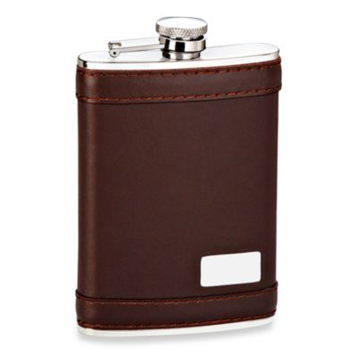 Genuine Leather 8-Ounce Flask